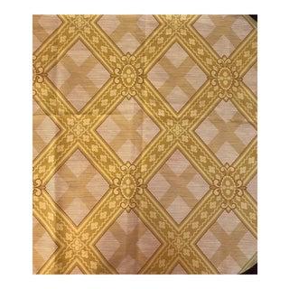 Large Yellow Trelliswork Linen Print
