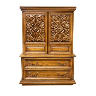 Late 20th Century Vintage Spanish Revival Style Cupboard For Sale