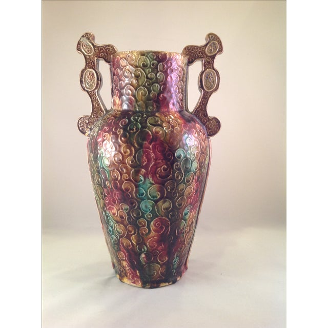 English Victorian Majolica Vase - Image 4 of 5