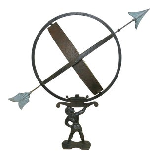 Vintage Swedish Armillary Sundial Attributed to Sune Rooth For Sale