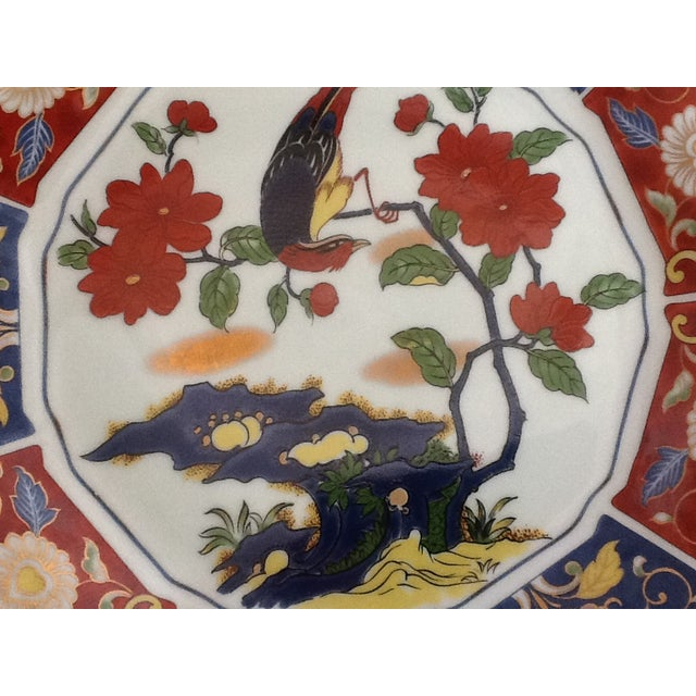 Vintage Imari Perched Bird Plate - Image 4 of 8