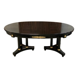 1910s Antique French Louis XVI Dining Table With Two Extending Leaves For Sale