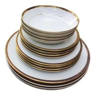 Delta Air Lines First Class Dinnerware - Service for Four —excluding Cups For Sale