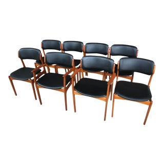 1960s Danish Modern Erik Buch Teak Dining Chairs - Set of 8