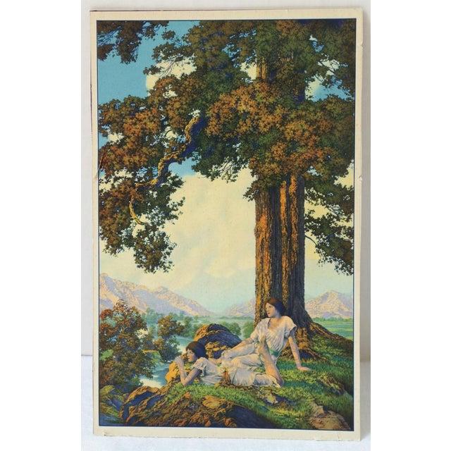 "1927 Maxfield Parrish ""Hilltop"" Original Art Print - Image 3 of 6"
