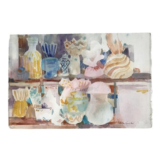 Vintage Americana Wonderful Watercolor Still Life