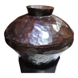 Balinese Wooden Container With Lid For Sale