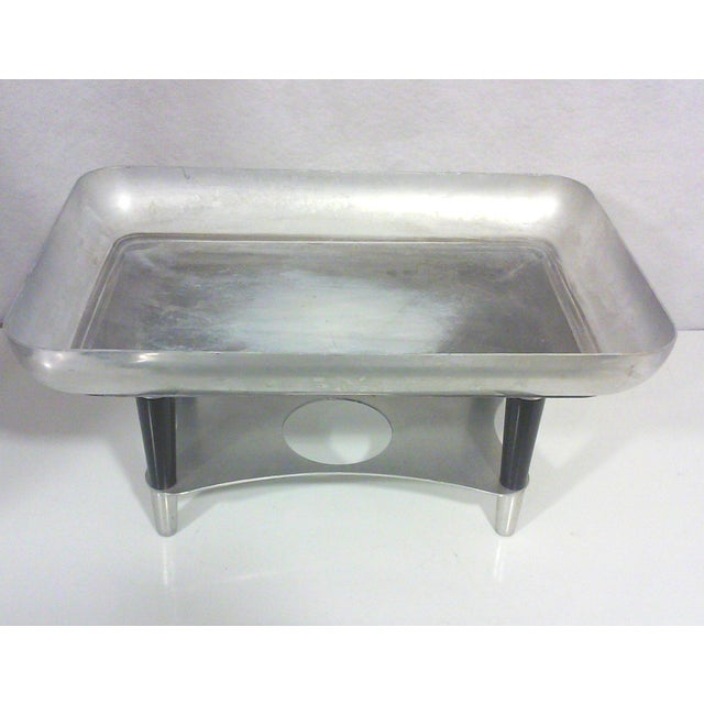 Machine Age Deco Aluminum Chafing Dish For Sale In Detroit - Image 6 of 8