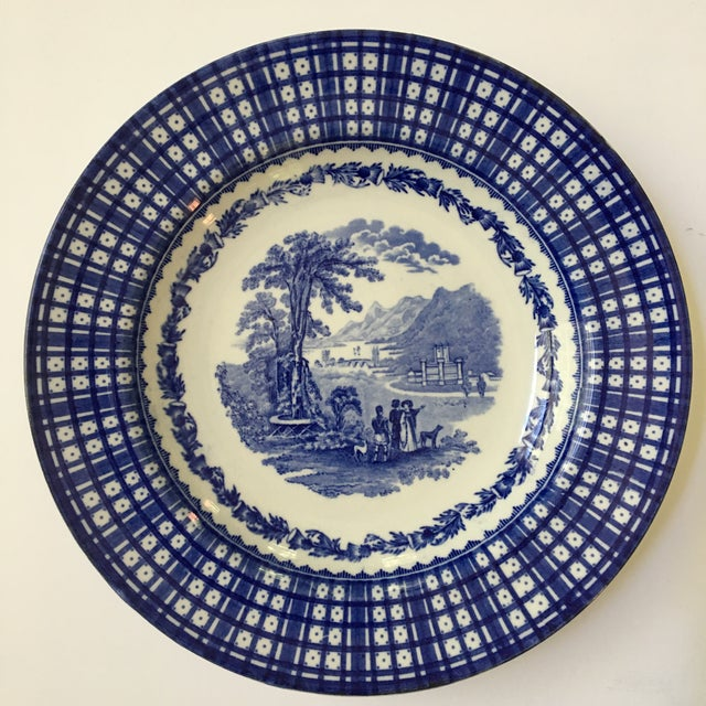 This is a beautiful set of three antique (circa 1900) rimmed bowls from England depicting the Scottish countryside and...