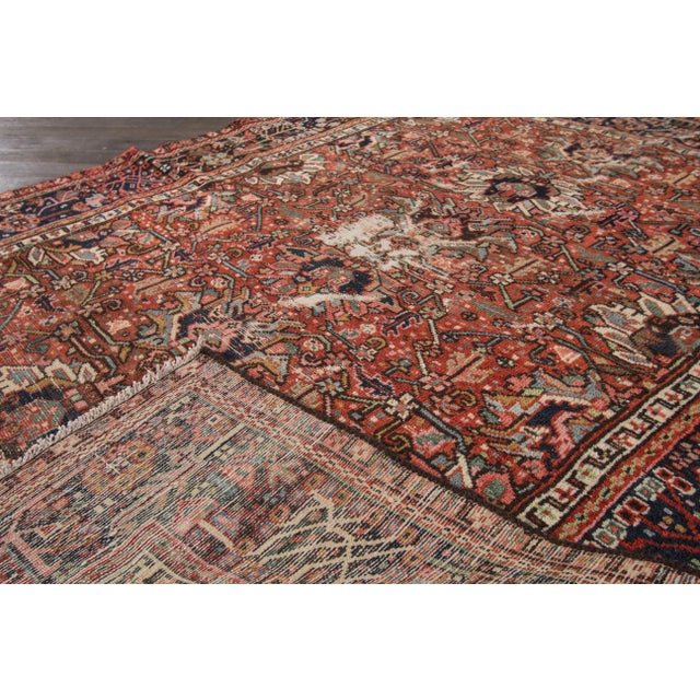 "Islamic Apadana Antique Persian Heriz Rug - 4'10"" X 6' For Sale - Image 3 of 7"