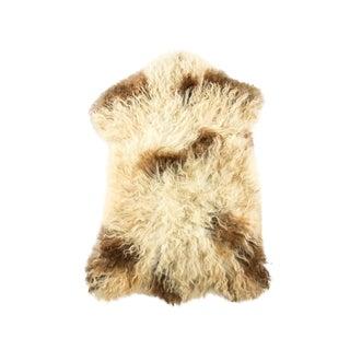 "Contemporary Long Soft Wool Sheepskin Pelt - 2'1""x3'1"" For Sale"