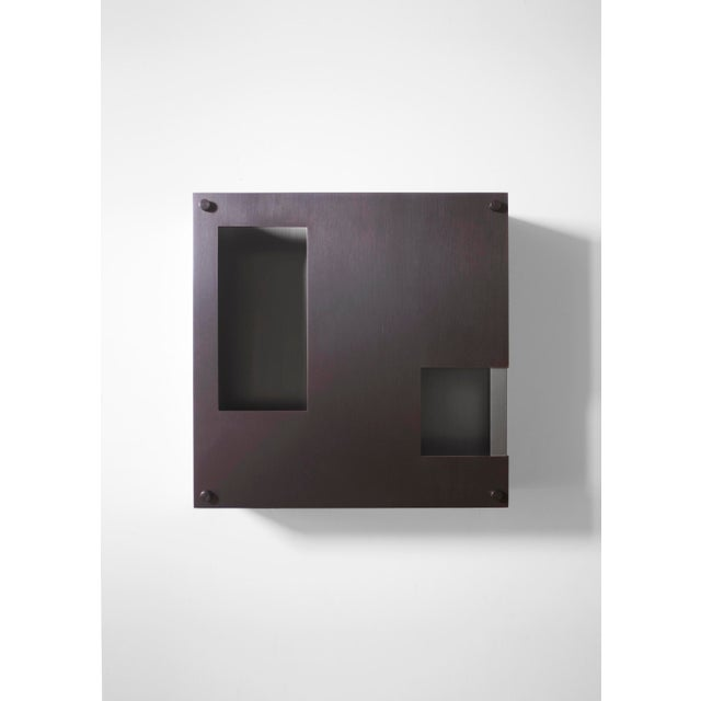 This contemporary light made of blackened brass is part of the Orphan Work brand and can be used as a wall sconce or...