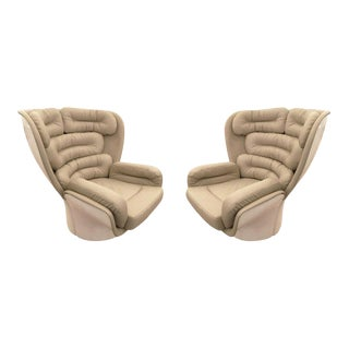 "Pair of ""Elda"" Swivel Chairs by Joe Colombo, Italy, 1963 For Sale"