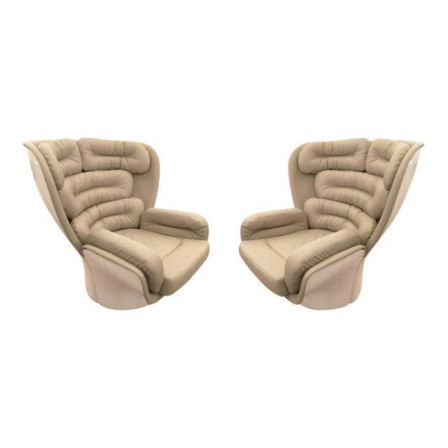 """Pair of """"Elda"""" Swivel Chairs by Joe Colombo, Italy, 1963 For Sale"""