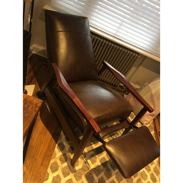 Arhaus Wordsmith Leather Recliner For Sale - Image 10 of 10