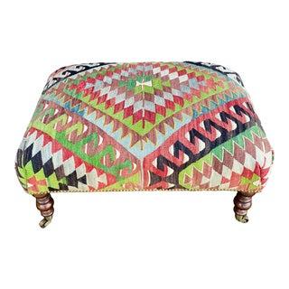 George Smith Style Kilim Ottoman For Sale