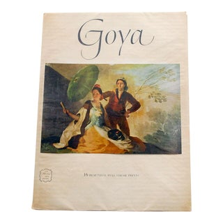 1950s Vintage Goya Art Book Including 16 Prints For Sale