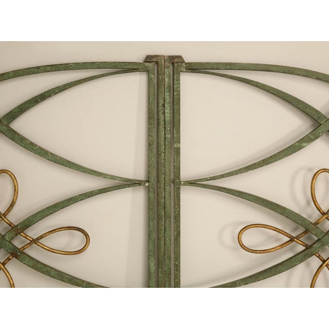 Original Vintage French Iron and Steel Gates/Fire Screens - a pair For Sale - Image 9 of 10
