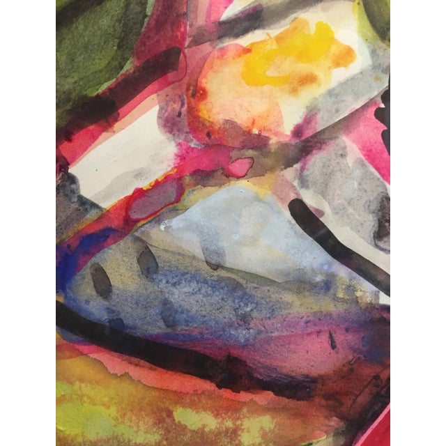 1976 Figurative Gouache Painting For Sale In New York - Image 6 of 8