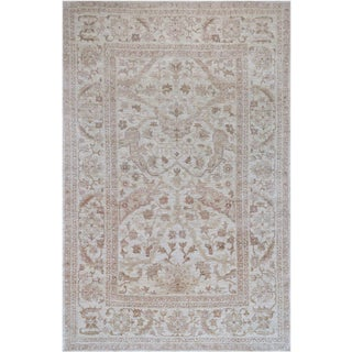 Mansour Handwoven Wool Agra Rug - 6' X 9' For Sale