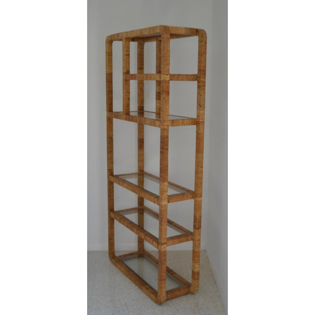 Mid-Century Rattan Bookcase For Sale - Image 11 of 13