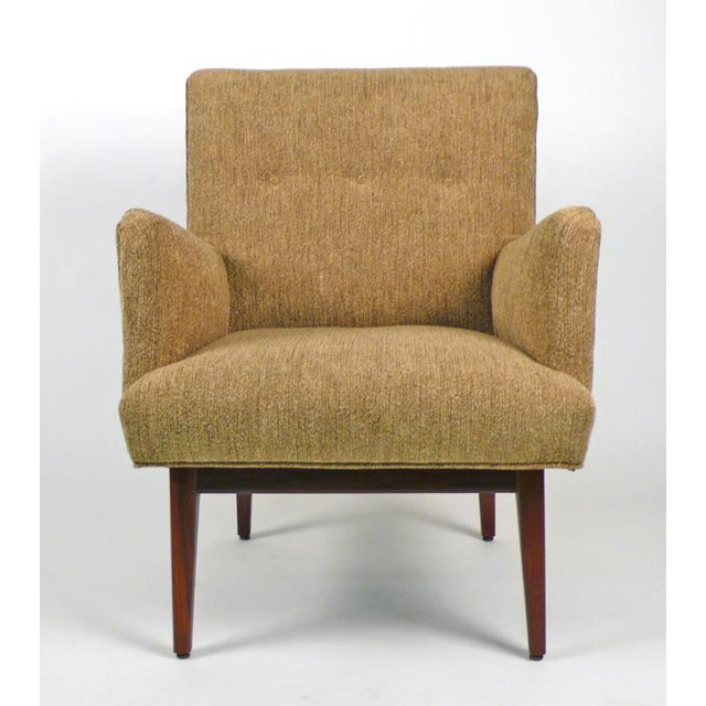 Fully restored conversation chair designed by Jens Risom.