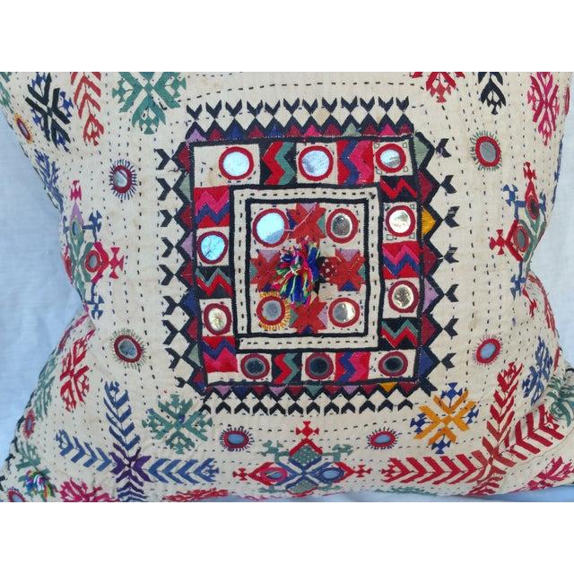 Boho Chic Vintage Banjara Fragment Pillow For Sale - Image 3 of 6