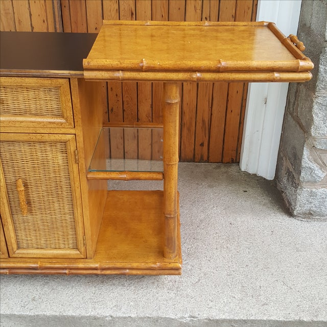American of Martinsville Faux Bamboo Server For Sale - Image 9 of 10