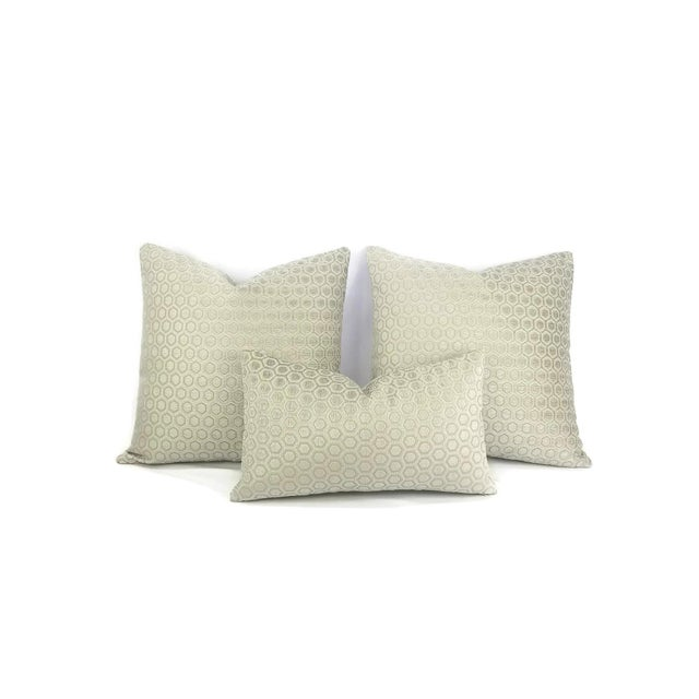 Jim Thompson Intara Seafoam Light Sage Chenille Pillow Cover For Sale - Image 4 of 7