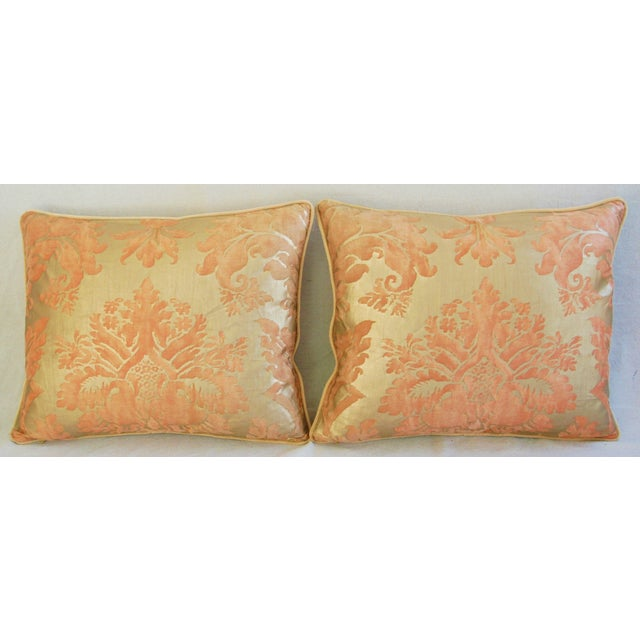 Italian Fortuny Glicine Gold Pillows - A Pair - Image 2 of 11