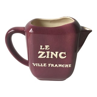 Le Zinc Ceramic Pitcher