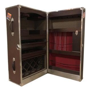 Monumental Custom Steamer Trunk Bar Cabinet