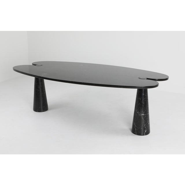 1970s 1970s Mangiarotti Black Marble Dining Table for Skipper For Sale - Image 5 of 12