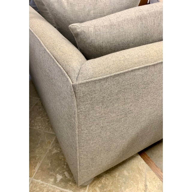 Textile John Hutton for Donghia Gray Sofa For Sale - Image 7 of 9