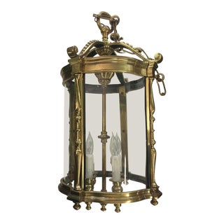French Style Brass Carriage House Chandelier