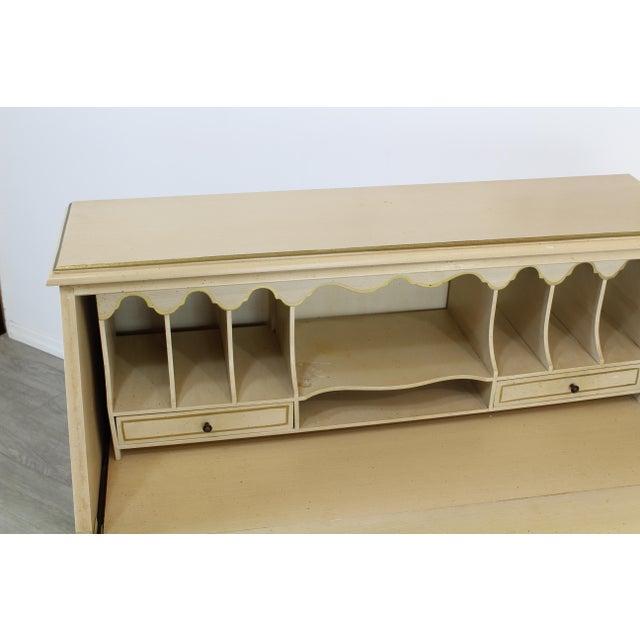 Traditional Secretary Desk, Cream Secretary Desk For Sale In Miami - Image 6 of 12
