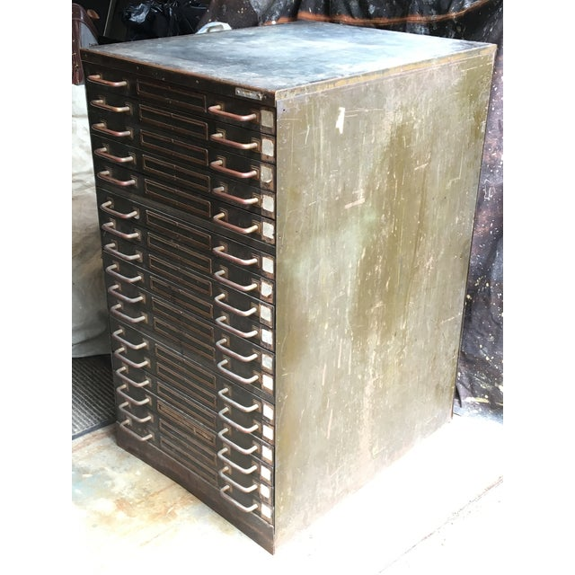 Industrial Industrial Steel Flat File Cabinet For Sale - Image 3 of 11