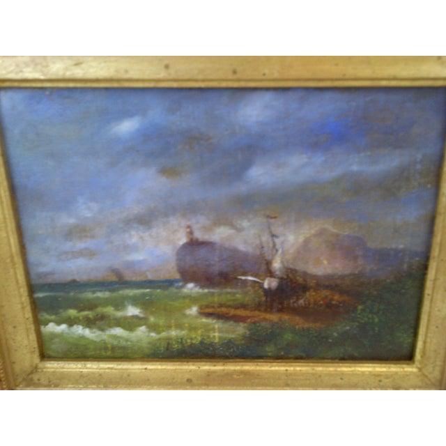 """Original Painting """"The Shipwreck"""", Circa 1840 For Sale - Image 5 of 8"""
