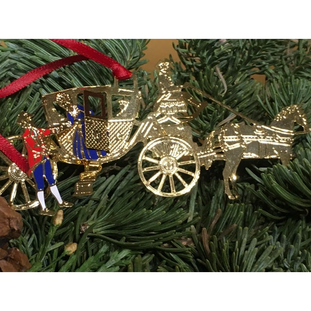 Horse & Carriage Christmas Tree Ornament For Sale - Image 4 of 8