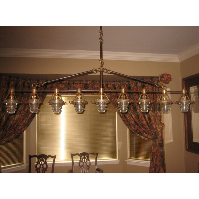 Traditional Hester and Cook 9 Pendant Light Fixture For Sale - Image 3 of 5