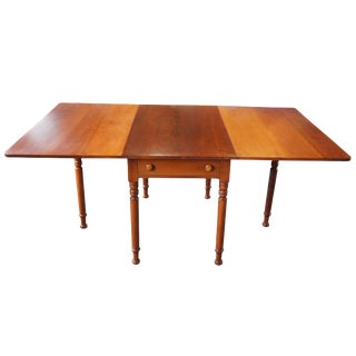 1959 Early American Amana Furniture Cherry Drop Leaf Gate Leg Side End Accent Table For Sale