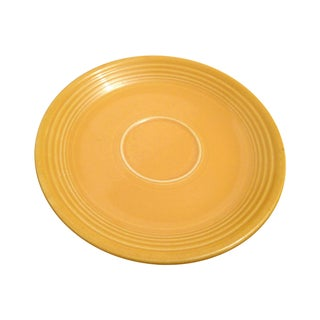 Vintage Yellow Fiesta Fiestaware Saucer Cup Plate For Sale
