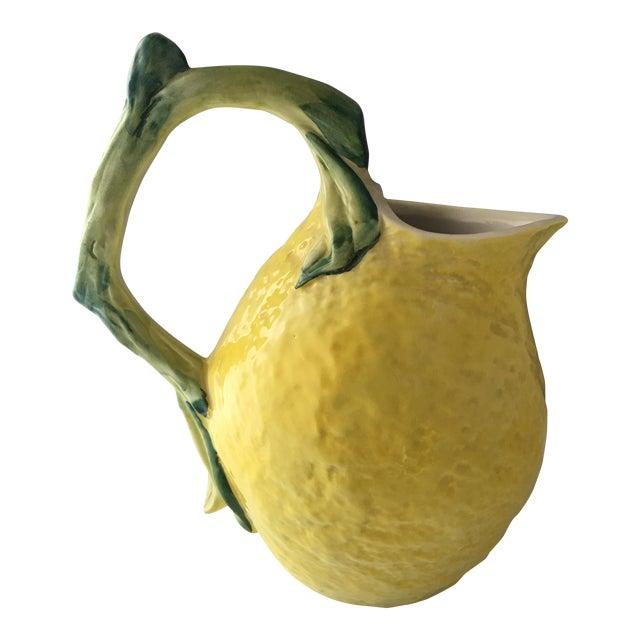 Italian Ceramic Lemon Pitcher For Sale