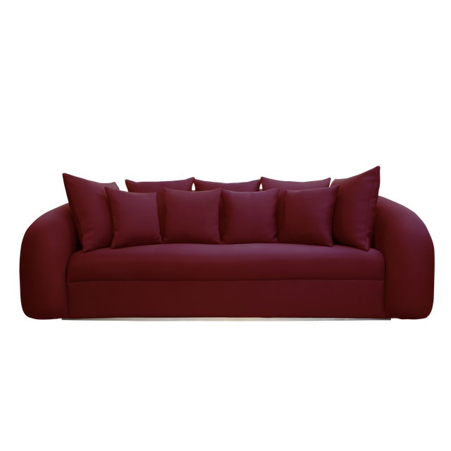 Laguna Collection Outdoor Fabric Laguna Sofa by Artist Hector Landgrave For Sale - Image 4 of 4