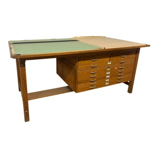1950s Safco Mayline Drafting Table - a Pair For Sale