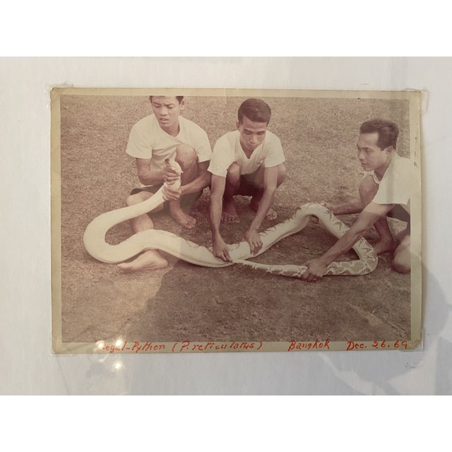 This 1969 photograph was purchased from an antiques dealer in Bangkok. It's in a stunning mahogany frame with brass inlay....