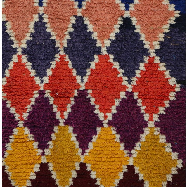 """Abstract 1990s Vintage Boucherouite Rug-3'1"""" X 9'4"""" For Sale - Image 3 of 6"""