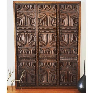Mid Century Modern Evelyn Ackerman Wood Carved Panel Preview