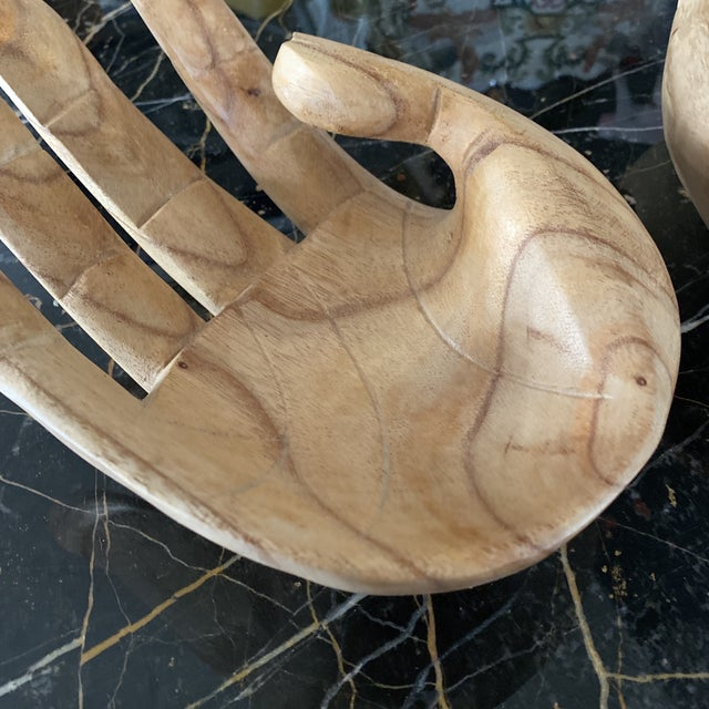 Wooden Hand Bowls** - a Pair For Sale - Image 4 of 7