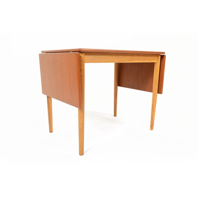 Borge Mogensen Teak & Oak Drop Leaf Coffee Table For Sale In San Francisco - Image 6 of 9